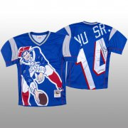 Wholesale Cheap NFL New England Patriots #14 Mohamed Sanu Sr. Blue Men's Mitchell & Nell Big Face Fashion Limited NFL Jersey