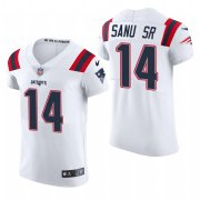 Cheap New England Patriots #14 Mohamed Sanu Sr. Nike Men's White Team Color Men's Stitched NFL 2020 Vapor Untouchable Elite Jersey