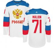 Wholesale Cheap Team Russia #71 Evgeni Malkin White 2016 World Cup Stitched NHL Jersey
