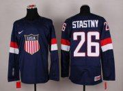 Wholesale Cheap 2014 Olympic Team USA #26 Paul Stastny Navy Blue Stitched NHL Jersey