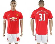 Wholesale Cheap Manchester United #31 Schweinsteiger Red Home Soccer Club Jersey