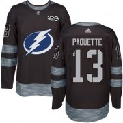 Cheap Adidas Lightning #13 Cedric Paquette Black 1917-2017 100th Anniversary Stitched NHL Jersey