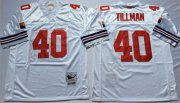 Wholesale Cheap Mitchell And Ness Cardinals #40 Pat Tillman White Throwback Stitched NFL Jersey