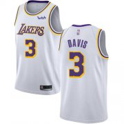 Cheap Lakers #3 Anthony Davis White Youth Basketball Swingman Association Edition Jersey