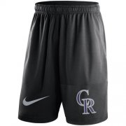 Wholesale Cheap Men's Colorado Rockies Nike Black Dry Fly Shorts