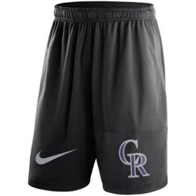 Wholesale Cheap Men\'s Colorado Rockies Nike Black Dry Fly Shorts