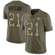 Wholesale Cheap Nike Chiefs #21 Bashaud Breeland Olive/Camo Youth Stitched NFL Limited 2017 Salute to Service Jersey