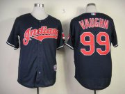Wholesale Indians #99 ricky vaughn Navy Blue Cool Base Stitched Baseball Jersey