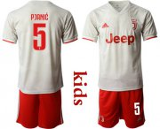 Wholesale Cheap Juventus #5 Pjanic Away Kid Soccer Club Jersey