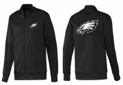 Wholesale Cheap NFL Philadelphia Eagles Team Logo Jacket Black_1