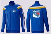 Wholesale Cheap NHL New York Rangers Zip Jackets Blue-4
