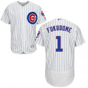 Wholesale Cheap Cubs #1 Kosuke Fukudome White(Blue Strip) Flexbase Authentic Collection Stitched MLB Jersey