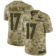 Wholesale Cheap Nike Broncos #17 DaeSean Hamilton Camo Men's Stitched NFL Limited 2018 Salute To Service Jersey
