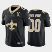 Wholesale Cheap New Orleans Saints Custom Black Men's Nike Big Team Logo Player Vapor Limited NFL Jersey