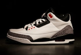 Wholesale Cheap Air Jordan 3 (III) INFRARED 23 Shoes white/black-red-gray