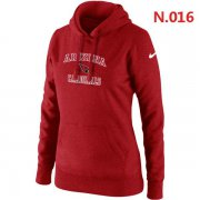Wholesale Cheap Women's Nike Arizona Cardinals Heart & Soul Pullover Hoodie Red
