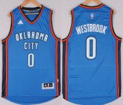 Wholesale Cheap Oklahoma City Thunder #0 Russell Westbrook Revolution 30 Swingman 2014 New Blue Jersey