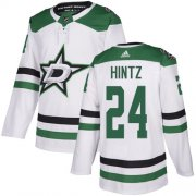 Cheap Adidas Stars #24 Roope Hintz White Road Authentic Stitched NHL Jersey