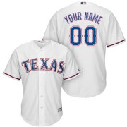 Wholesale Cheap Texas Rangers Majestic Cool Base Custom Jersey White