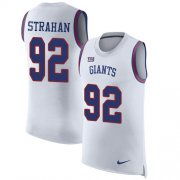 Wholesale Cheap Nike Giants #92 Michael Strahan White Men's Stitched NFL Limited Rush Tank Top Jersey