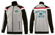 Wholesale Cheap NFL New York Jets Heart Jacket Grey