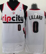 Wholesale Cheap Portland Trail Blazers #0 Damian Lillard Rip City White Swingman Jersey