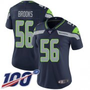 Wholesale Cheap Nike Seahawks #56 Jordyn Brooks Steel Blue Team Color Women's Stitched NFL 100th Season Vapor Untouchable Limited Jersey