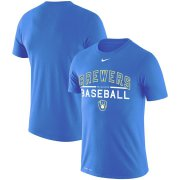 Wholesale Cheap Milwaukee Brewers Nike Practice Performance T-Shirt Royal