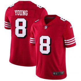 Wholesale Cheap Nike 49ers #8 Steve Young Red Team Color Men\'s Stitched NFL Vapor Untouchable Limited II Jersey