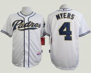 Wholesale Cheap Padres #4 Wil Myers White Cool Base Stitched MLB Jersey