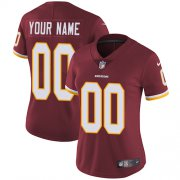 Wholesale Cheap Nike Washington Redskins Customized Burgundy Red Team Color Stitched Vapor Untouchable Limited Women's NFL Jersey