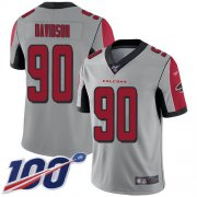 Wholesale Cheap Nike Falcons #90 Marlon Davidson Silver Youth Stitched NFL Limited Inverted Legend 100th Season Jersey