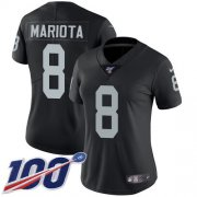 Wholesale Cheap Nike Raiders #8 Marcus Mariota Black Team Color Women's Stitched NFL 100th Season Vapor Untouchable Limited Jersey