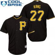 Wholesale Cheap Pirates #27 Jung-ho Kang Black Cool Base Stitched Youth MLB Jersey