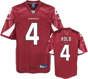 Wholesale Cheap Cardinals #4 Kevin Kolb Red Stitched NFL Jersey