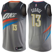 Wholesale Cheap Nike Oklahoma City Thunder #13 Paul George Gray NBA Swingman City Edition Jersey