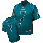 Wholesale Cheap Nike Jaguars #7 Nick Foles Teal Green Alternate Youth Stitched NFL Elite Drift Fashion Jersey