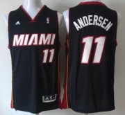 Wholesale Cheap Miami Heat #11 Chris Andersen Revolution 30 Swingman 2013 Black Jersey