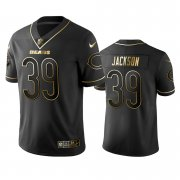 Wholesale Cheap Nike Bears #39 Eddie Jackson Black Golden Limited Edition Stitched NFL Jersey