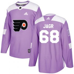 Wholesale Cheap Adidas Flyers #68 Jaromir Jagr Purple Authentic Fights Cancer Stitched NHL Jersey