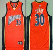 Wholesale Cheap Men's Golden State Warriors #30 Stephen Curry Rookie Orange Swingman Jersey