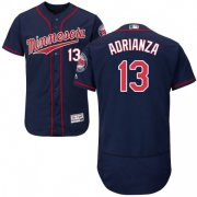 Wholesale Cheap Twins #13 Ehire Adrianza Navy Blue Flexbase Authentic Collection Stitched MLB Jersey