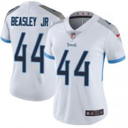 Wholesale Cheap Nike Titans #44 Vic Beasley Jr White Women's Stitched NFL Vapor Untouchable Limited Jersey