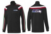 Wholesale Cheap NFL Seattle Seahawks Team Logo Jacket Black_2