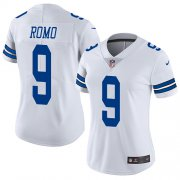 Wholesale Cheap Nike Cowboys #9 Tony Romo White Women's Stitched NFL Vapor Untouchable Limited Jersey