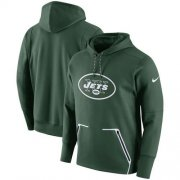 Wholesale Cheap Men's New York Jets Nike Green Champ Drive Vapor Speed Pullover Hoodie