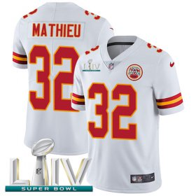 Wholesale Cheap Nike Chiefs #32 Tyrann Mathieu White Super Bowl LIV 2020 Men\'s Stitched NFL Vapor Untouchable Limited Jersey
