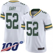 Wholesale Cheap Nike Packers #52 Rashan Gary White Men's Stitched NFL 100th Season Vapor Limited Jersey
