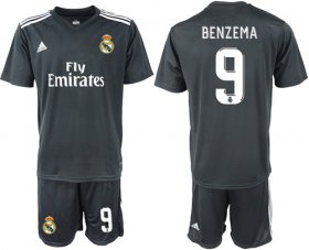 Wholesale Cheap Real Madrid #9 Benzema Away Soccer Club Jersey
