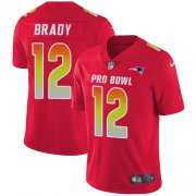 Wholesale Cheap Nike Patriots #12 Tom Brady Red Men's Stitched NFL Limited AFC 2019 Pro Bowl Jersey
